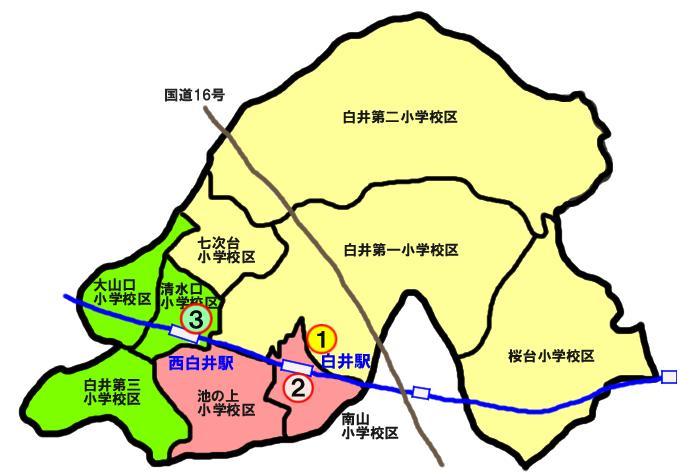 白井市地域包括支援センターの配置図